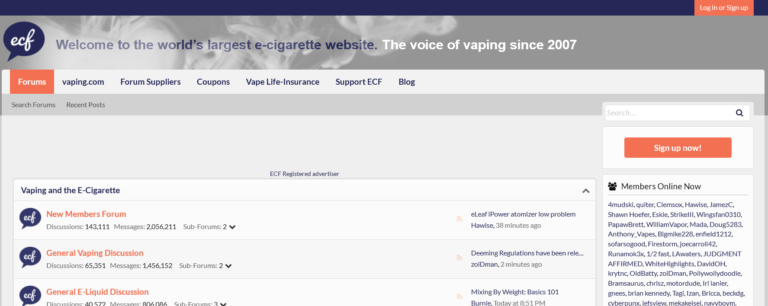 The Best Online Hangouts for Vapers